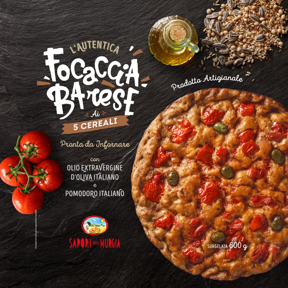 Ricetta In Inglese Focaccia.Five Cereals Focaccia 600 Gr La Focaccia Barese The Best Bari Focaccia Puglia Bari